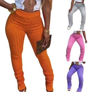 Bag mulheres Outono e Inverno New Mid-cintura Casual Calças Hip Pants Magro Moda Pé