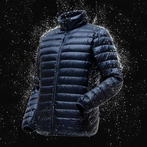 Quanbo Erkekler Hafif Suya dayanıklı Packable Puffer Ceket