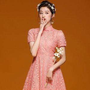 Guochao Chinese Wind 2020 Cheongsam Kleid Sommerfrauen neues tägliches junges cheongsam verbessertes Kleides 19053 GyH4k