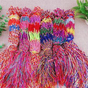 Cinco cor pulseira de rosca mulheres homens tecelagem pulseiras cordão colorido trança jóias cadeia pequena presente 0 17hs g2b