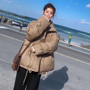 SONDR Autumn Winter 2020 Female Jacket Plaid Short Parkas Coat Korean New Thick Warm Loose Casual Oversized Women Jacket
