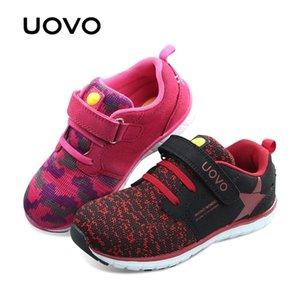 UOVO Новейшие Дышащие Весна Осень Мальчики Девочки Легкие Световые Детские Гибкие Обувь для детей Y201028