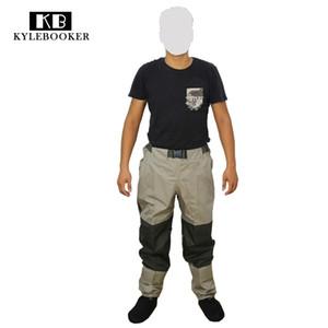 Fly Fishing Hunting Wading Pants Men Breathable Waist Waders Waterproof Windproof Outdoor trousers hunt gear 201211