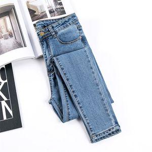 Jujuland Kadın Denim Siyah Renk Bayan Kot Donna Streç Dipleri Sıska Pantolon Kadın Pantolon 8175 Y200417
