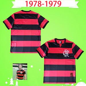 Clube de Regatas do Flamengo 1978 1979 Jerseys de fútbol retro Inicio Red and Black Vintage Maillo Camiseta Antique 78 79 Camisetas de fútbol