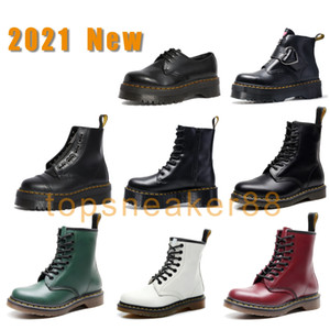2021 New Version Man Boots Women Platform Fashion Jadon Bottes 1460 Black Bottines White Snow Women Booties 2976 Nappa Eu 35-46