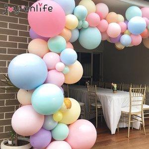 100pcs 12inch ducha de la boda del color del caramelo Macaron látex globo inflable del bebé fiesta de cumpleaños decorativo Globos dulce