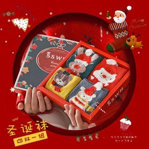 08 Retro Stocking Gift Box Pendant Christmas Tree Ornaments Decoration Christmas Party Gift Bag Snowman Old Man Christmas Deer