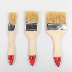 Red-tailed Varnished Paint Brushes with Wooden Handle