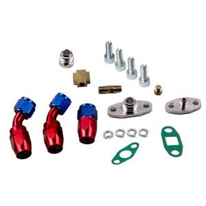kit venda quente para T3 T4 T60 T61 T70 T04E Oil alimentação de linha 1M + Turbo Oil Escorra Retorno kits completos