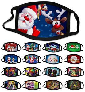 Weihnachten Gesichtsmaske 2020 New Christmas Santa Claus Schneeflocke Tier Hirsch Masken Gesicht Designer 3D-Malerei Antistaubnebel facemask