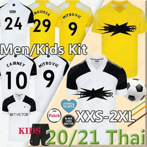 20 21 Митрович Cairney трикотажных изделий футбола 2020 2021 Knockaert Серь LEMINA ANGUISSA HOME AWAY YELLOW мужчины дети комплект майки равномерным