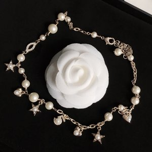 Fashion Woman Necklace Trend Necklace Pearl Necklace Star Heart Long Necklaces Charm Jewelry for Gift Supply