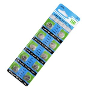 10pcs / paket AG13 LR44 357 Button Batterien R44 A76 SR1154 LR1154 Zellmünze Alkalibatterie 1.55V G13 für Watchspielys Remote WMTyas
