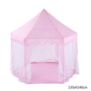 Enfants Game Tente Princess Castle Tente Baby Ocean Ball Play House Colapignes Portable Portable Pliant bébé Anniversaire cadeaux photo props1