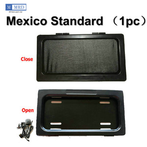 1 Plate  Set Mexico Electric Device License Plate Frame Hide-Away Shutter Cover Up Stealth Remote Kit DHL Fedex UPS