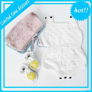 Retail Newborn Infant Kids Baby Knitted Cotton Bodysuits Rompers Spring Autumn Jumpsuit Overalls Toddler Clothes 0-18M EG004