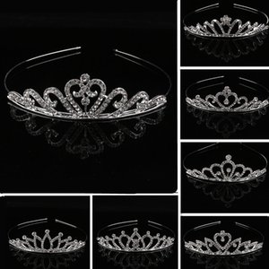 Children Girls Crystal Tiaras Crown Rhinestone Headband Hair Bands Baby Party Jewelry Hair Accessories Princess Crystal Tiaras Headdress