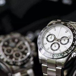Top qualité Hommes 40mm Montre quartz automatique montres bracelet en acier Lunette Céramique Saphir 116500 116520 daytonaCosmograph Dive s #