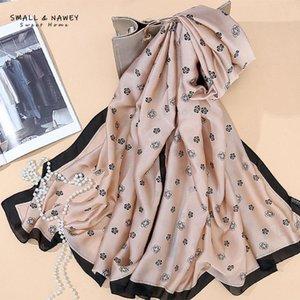 90*180CM New style silk scarf sunscreen shawl photo beach towel fashion ladies silk scarf