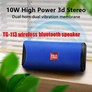 TG113 Portable Bluetooth Wireless Speaker Waterproof Stereo Column Outdoor Speaker FM Broadcast MP3 Bass Waterproof Card