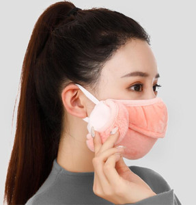 Face Mask Earmuffs Winter Warm Opening Breathable Thickened Mask Outdoor Riding Ski Windproof Masks Washable Mouth Cover K