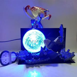Naruto Action Figure Minato VS Obito Rasengan Led Light Scene Toy Anime Naruto Shippuden Figurine Uchiha Obito Model Toys Gift Y200421