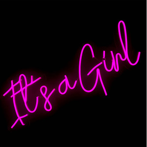 """""""its a girl"""" Sign Bar Disco Office Home wall decoration neon light with artistic atmosphere 12 V Super Bright"""