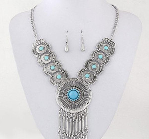 Sets Accessories Pendant Part Fine Earrings Necklace Jewelry For Women Circle Bridal Wedding wmtLM dayupshop
