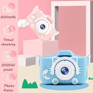 Children's Mini Digital Camera HD Screen Camera Video Toy 20 Million Pixel Kids Cartoon Cute Camera Outdoor Photography LJ201105