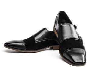 GM Golaiman 2020 Design Herren Double Monk-Strap Loafer Schuhe Casual Arbeitskleid Schuhe Hochwertige Sportturnschuhe