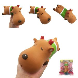 Christmas Elk Squishy Toy Cute Deer Squeeze Slow Rising Stress Reliever Party Supply Kids Gift Xmas Decoration