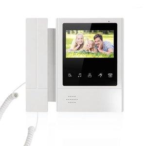 Video-Türtelefone 4,3-Zoll-kabelgebundenes Telefonsystem Visual Intercom-Türklingel mit 1 Monitor + 1 * 700TVL Outdoor-Kamera für die Heimüberwachung1