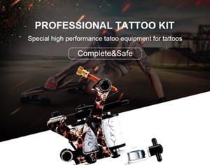 Набор для начинающих татуировки One Tattoo Machine Punn Установите Бессмертные чернила Иглы источники питания Поставки Установить профессиональный комплект