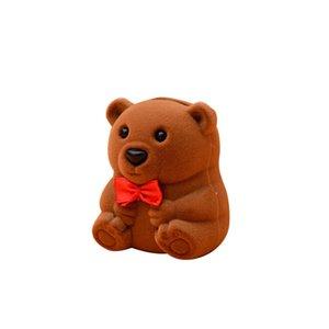 Scatole di gioielli Bear Jewelry Box Packaging Boxs Forniture per matrimoni Proposta Anello Anello Valentino Regali Regali Packaging Box EEB4151