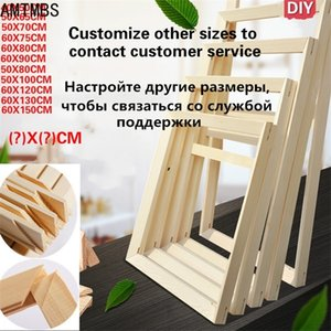 DIY Natural Wood Photo Canvas Diamond Oil Painting Cross Stitch Assembly Inner Frame Home Decoration C0927