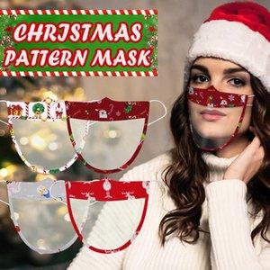 Visible Clear Window Earloop Maske Lippenlesen Transparent Masken Weihnachtsgesichtsmaske Lippentaubstummen Impaired Deaf Mundschutz BWA1916