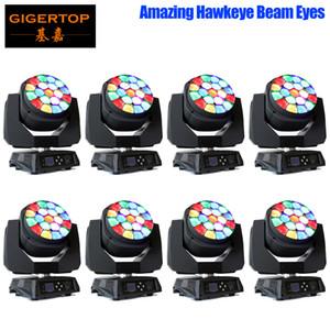 Gigertop 8 Unidades surpreendente Hawkeye 19x15W Led Zoom Moving Head Light Osram RGBW Cor 4IN1 Lens Zoom rotação colorido feixe Efeito 110V-220V