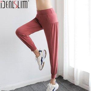 Idealslim Frauen Baggy Hosen Hohe Taille Lässige Hose Harem Pants1