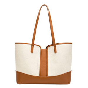Fashion Women's Handbag Soft Pu Leather Large Capacity Female Shoulder Bags 2021 New Design Simple Casual Totes