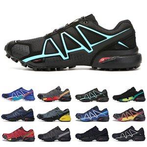 gute Geschwindigkeit Quer 4 CS Outdoor-Herren-Schuhe Speedcross 4 Läufer IV-Schwarz-Grün Schuhe Herren Sport Sneakers chaussures zapatos Laufen 40-46