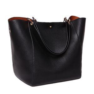 Casual Fashion Retro Ladies Leather Large Bucket Shoulder Tote Purse Hobo Bag Top Handle Handbag For Women