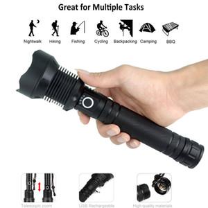 De alta potência 7 X LED 7MM 30W 5V Micro USB telescópica Zoom Lanterna recarregável adequado para camping, escalada, Noite de equitação, Espeleologia Waterpr