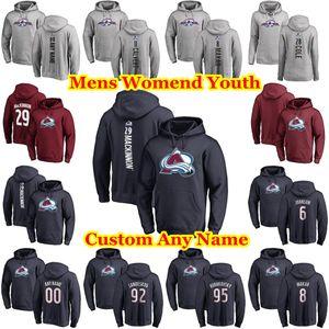 Colorado Avalanche Sudadera con capucha Nieto Matt Duncan Siemens Tyson Jost Nail Yakupov Mark Barberio hockey chaquetas con capucha personalizado cosido