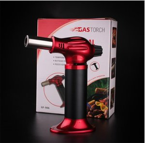 Big size 1300C Butane Scorch torch jet flame torch lighter Giant Heavy Duty Refillable Micro Culinary kitchen Torch Self-igniting
