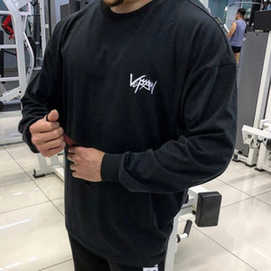 New Men Cotton Sweatshirt Gyms Fitness Bodybuilding Workout Hoodies Casual Fashion Jacket Sportswear Tracksuits Clothing 201021