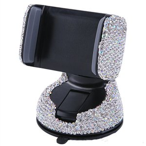 3 In 1 360 Degree Car Phone Holder for Car Dashboard Auto Windows and Air Vent with DIY Crystal Diamond Phone Bracket