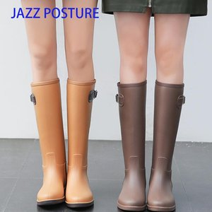 Women Knee-High Rain Boot Ladies Waterproof Rubber Comfortable Boots Outdoor Shoes Female High Quality Rain Boots z712