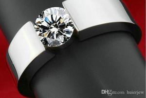 Anéis de casamento Homens Mulher rosa banhado a ouro diamante CZ amantes Promise Ring para as Mulheres Homens