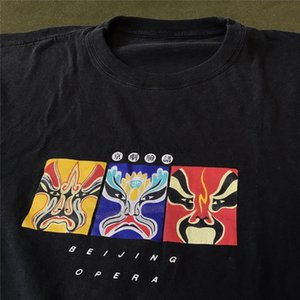 Дизайнеры Китай Маска Черные Мужские Сувенирные рубашки Одноместный модный Тюще, старинные XL Opera Brand Beijing Hoodie Толстовка TGNTH WMHOS